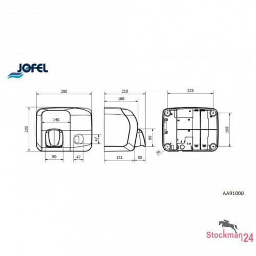 Электросушилка Jofel Ibero 2000 Вт., ручное включение