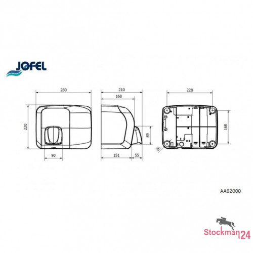 Электросушилка Jofel Ibero 2000 Вт., автоматическое включение