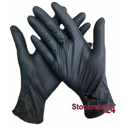 Перчатки нитриловые, черные